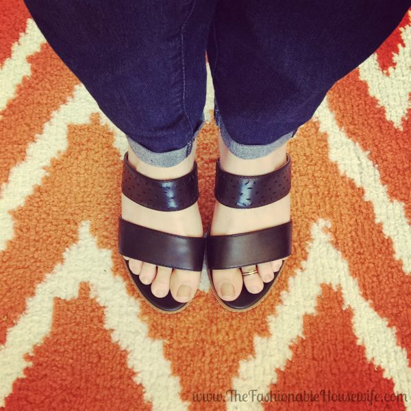 Today's Outfit: Rockport Garden Court Perf Slide Sandal