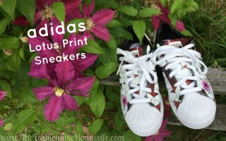 adidas lotus print superstar sneakers