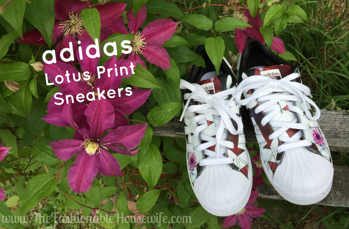 adidas lotus print superstar sneakers