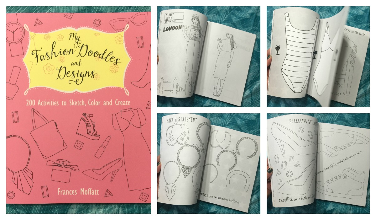 Fashion Book Cover Ideas : Fashion doodles and designs activity coloring book the