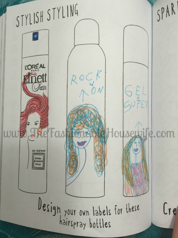 fashion doodles and designs book hairspray