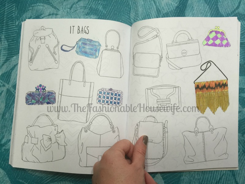 fashion doodles and designs book handbags