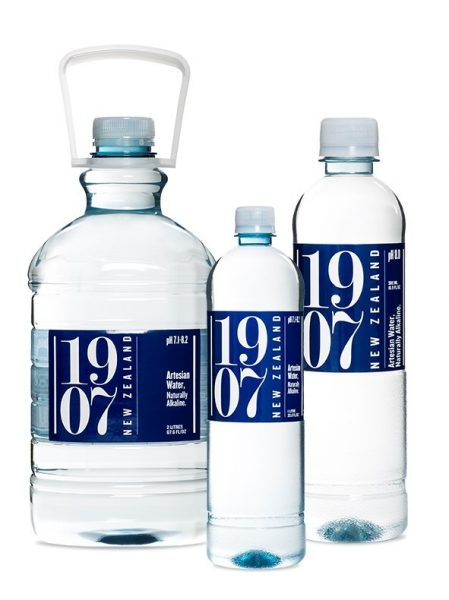 1907 group of water bottles