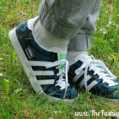 Today's Outfit: adidas Originals Gazelle OG Black Print Trainers