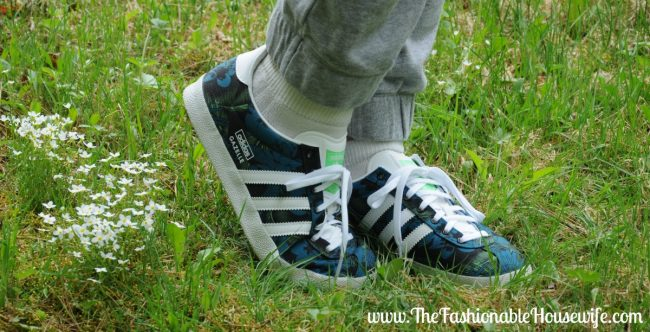 Today's Outfit: adidas Originals Gazelle OG Black Print Trainers