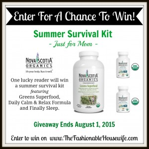 Enter To Win The Nova Scotia Organics Summer Survival Kit! #giveaway