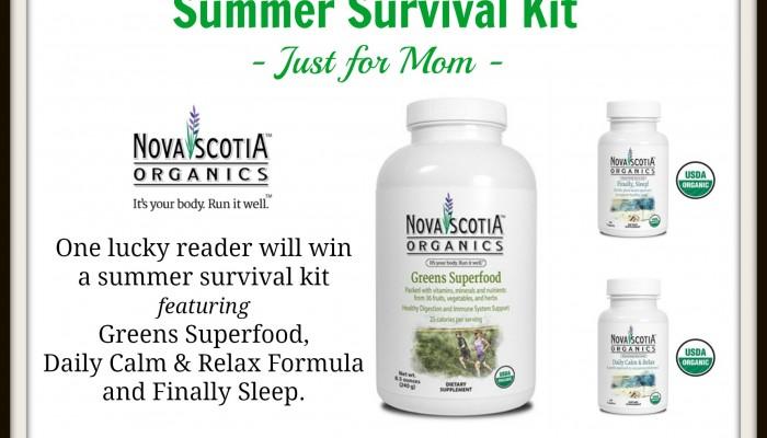 Enter To Win The Nova Scotia Organics Summer Survival Kit! #giveaway