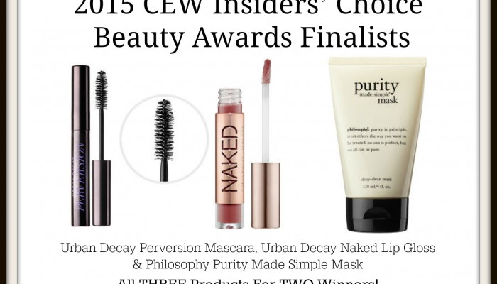 Enter To Win Urban Decay & Philosophy Products from 2015 CEW Insiders' Choice Beauty Awards