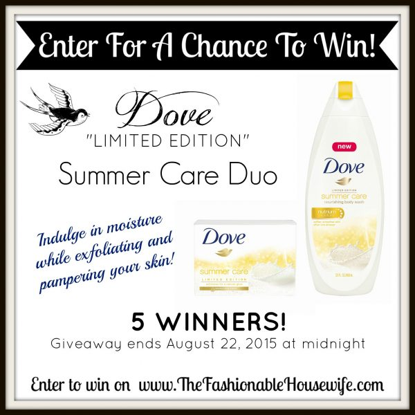 Enter To Win DOVE Summer Care Duo for 5 Winners