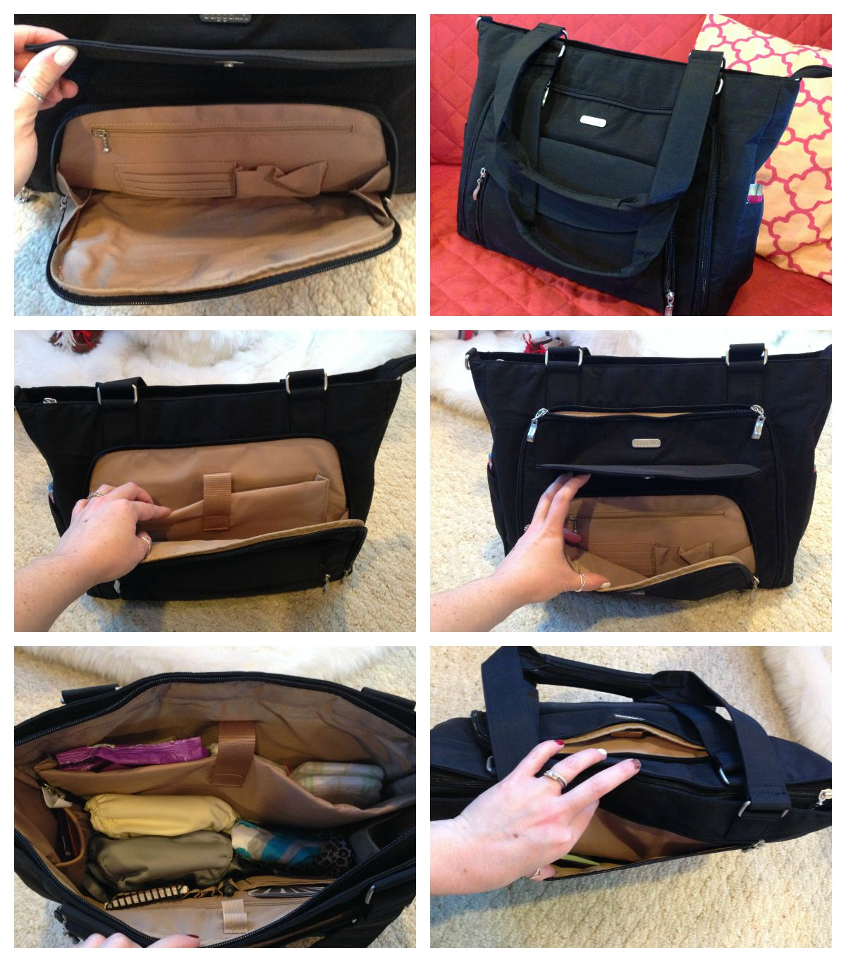 baggallini alfa laptop handbag tote