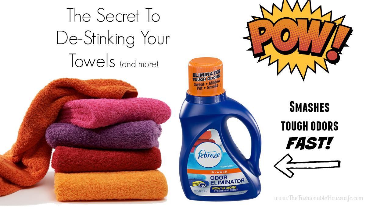 de-stink your towels fast