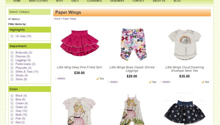 All about Paper Wings Clothing Online