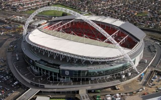 Aerial image of Wembley Stadium, London