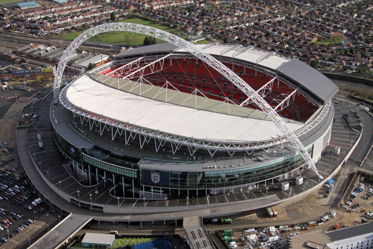 Aerial image of Wembley Stadium, London