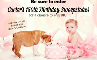 Enter Carter's 150th Birthday Sweepstakes! #HappyBirthdayCarters #CartersSweepstakes #IC #AD