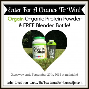 Enter To Win Orgain Organic Protein Powder #PoweredByOrgain #IC #AD