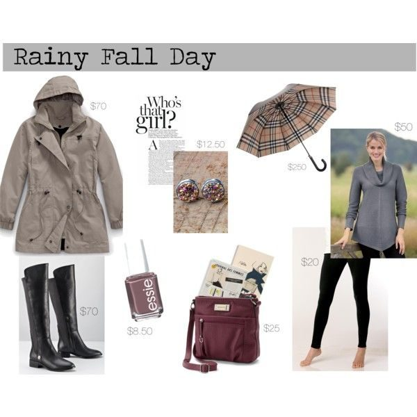 Outfit Ideas for A Rainy Fall Day