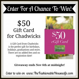 Chadwicks of Boston $50 Gift Card Giveaway