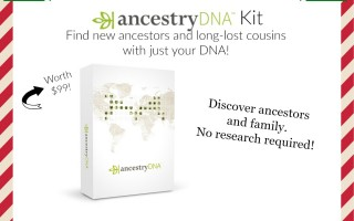 Enter To Win the AncestryDNA Kit worth $99! #12DaysofChristmasGiveaways