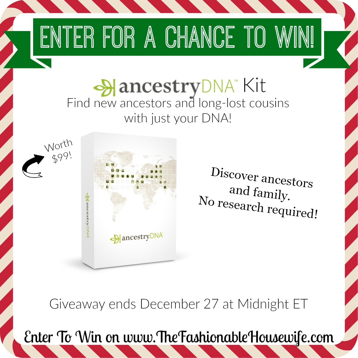 Enter To Win Ancestry DNA Kit