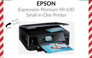 Enter To Win EPSON Expression Premium XP-630 All In One Printer #12DaysofChristmasGiveaways