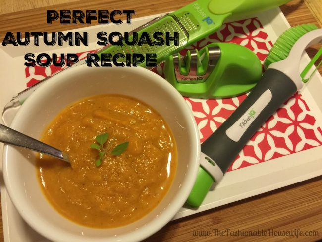 Perfect Autumn Squash Soup Recipe Made Easy with KitchenIQ #SharpenYourKitchenIQ #IC #AD