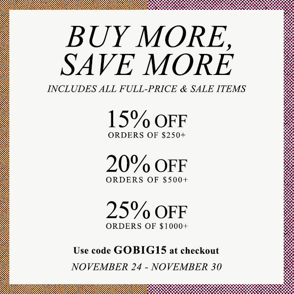 Shopbop BUY MORE SAVE MORE Sales Event!