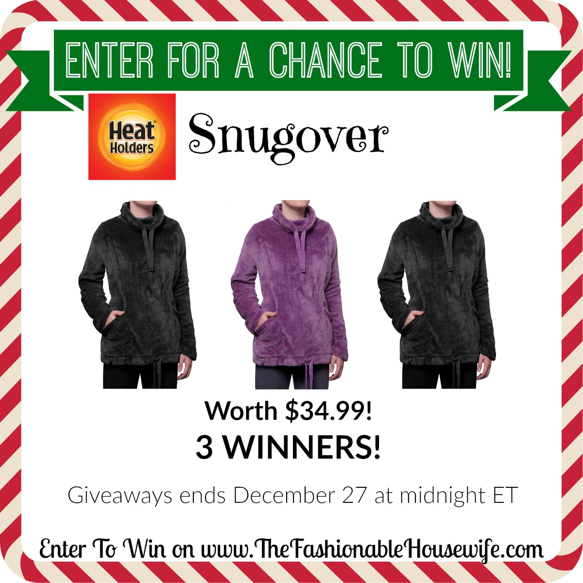 Enter To Win Heat Holders Snugover