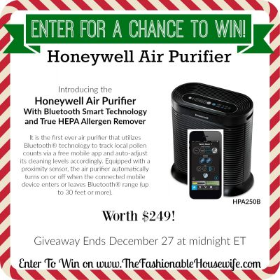 Enter To Win a Honeywell Air Purifier with Bluetooth® Smart Controls worth $249!