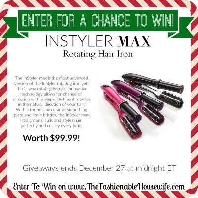 Enter to Win InStyler MAX 2-Way Rotating Hair Iron worth $99! #12DaysofChristmasGiveaways