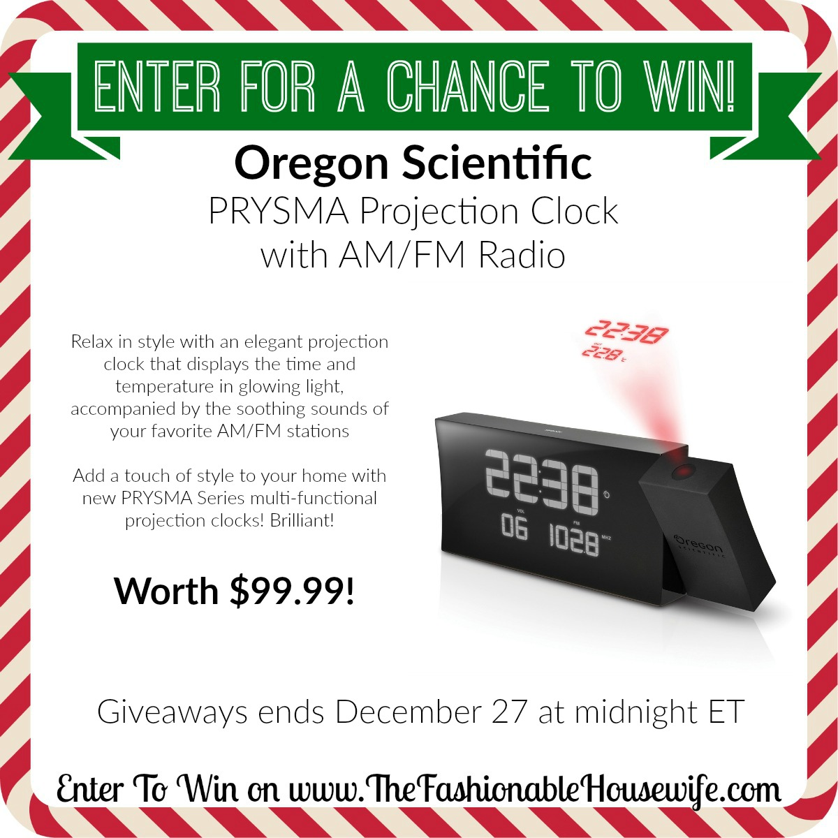 Enter To Win Oregon Scientific Atomic Projection Clock