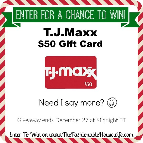 Enter To Win a TJMaxx 50 Gift Card