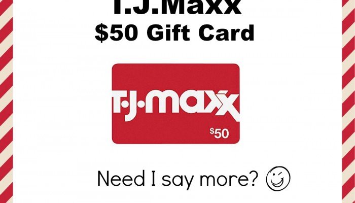 Enter To Win T.J.Maxx $50 Gift Card! #12DaysofChristmasGiveaways
