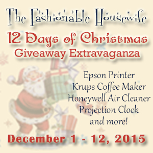 12 Days of Christmas Giveaway Extravaganza 2015!