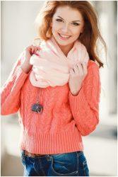 fashion girl redhead scarf