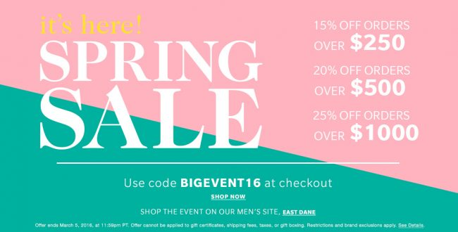 Get The Top 5 Spring Must-Haves During SHOPBOP's Spring Sale!