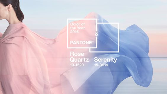 Pantone's 2016 Colors of The Year are Rose Quartz & Serenity