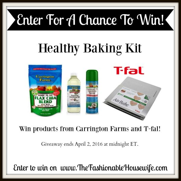 The Healthy Baking Challenge with Carrington Farms and T-fal + GIVEAWAY! #SprinkleofNutrition
