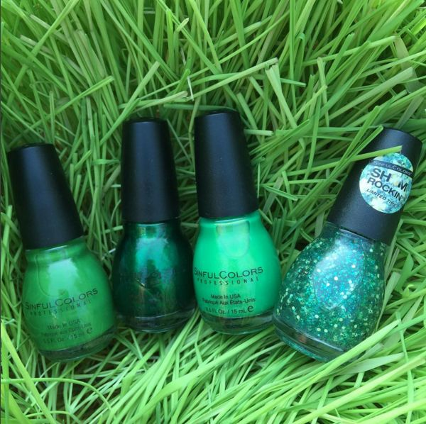 sinfulcolors shamrock greens