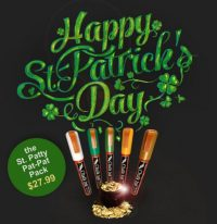 st pattys day chalk ink