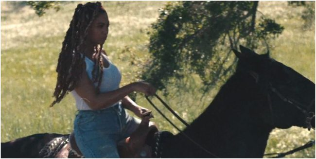 beyonce on horse