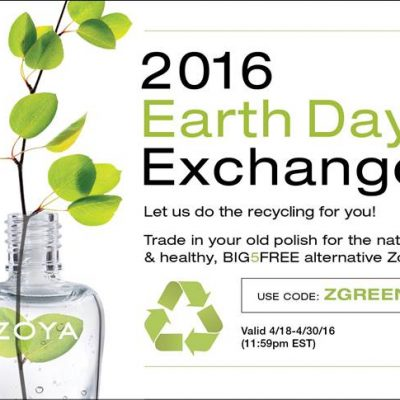 ZOYA's Big Earth Day Nail Polish Exchange Starts TODAY!
