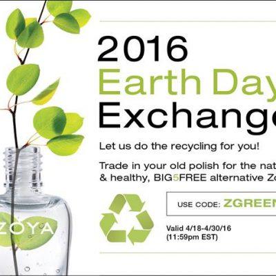 ZOYA's Big Earth Day Nail Polish Exchange Starts TODAY!