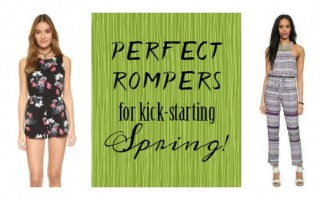 Perfect Rompers For Kick Starting Spring!