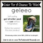 Summer Must-Have: GeleeoSelf-Cooling Gel Stroller Pad + GIVEAWAY!