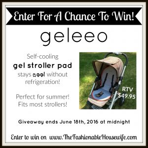 Summer Must-Have: Geleeo Self-Cooling Gel Stroller Pad + GIVEAWAY!