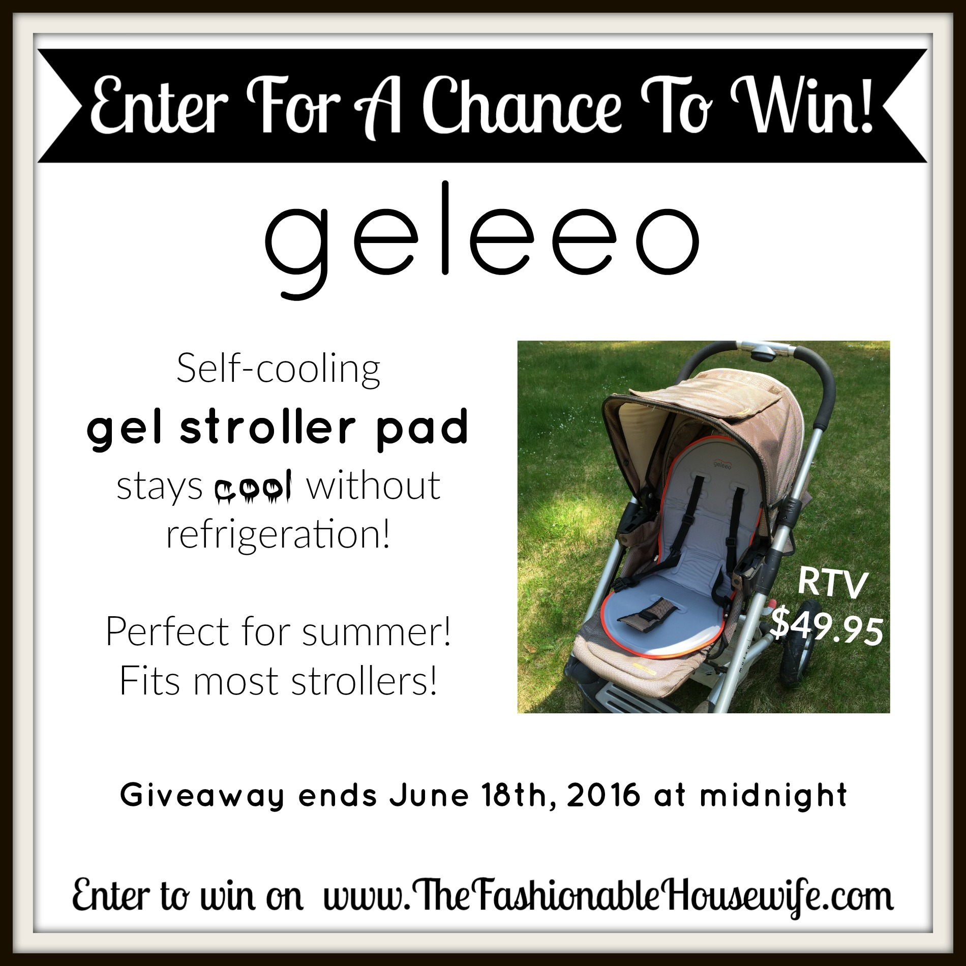 Enter To Win Geleeo Stroller Pad