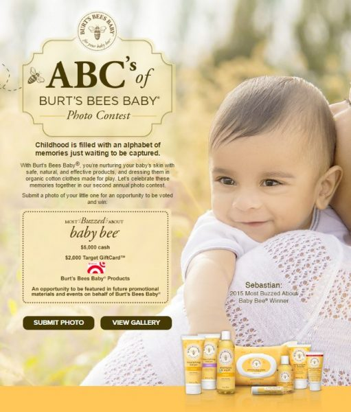 Burt's Bees Baby Photo Contest is Happening Now!