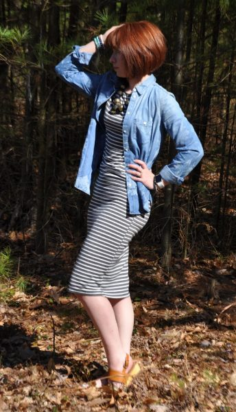 Today's Outfit: Stripes and Chambray