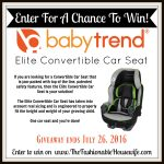 Baby Trend Elite Convertible Car Seat Review + GIVEAWAY!